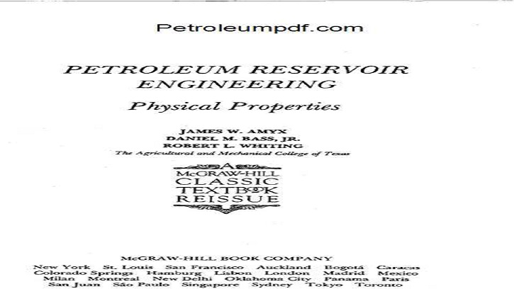 Petroleum Reservoir Engineering Physical Properties PDF Free Download.
