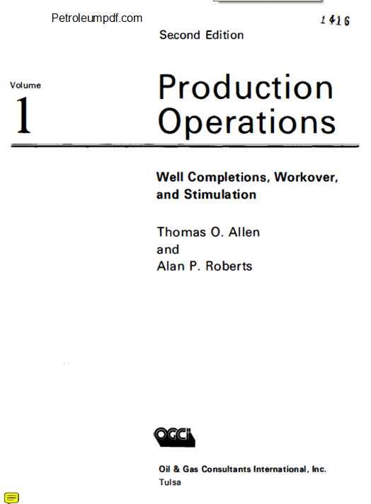 Production Operations Volume 1 PDF