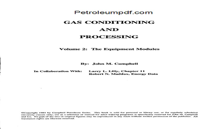 Gas Conditioning and Processing Volume 2 PDF Free Download