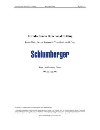 Introduction to Directional Drilling Pdf