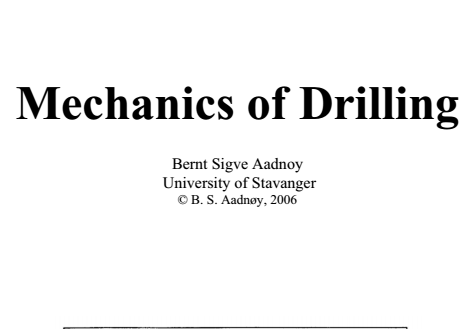 Mechanics of Drilling Pdf