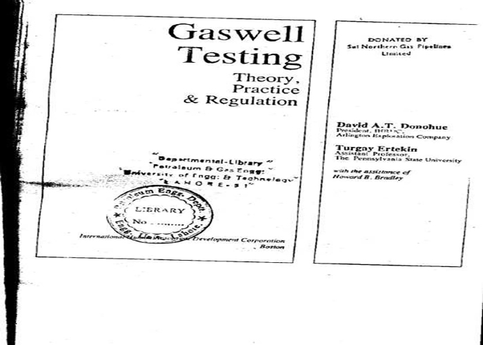 Gas Well Testing by David A. T. PDF