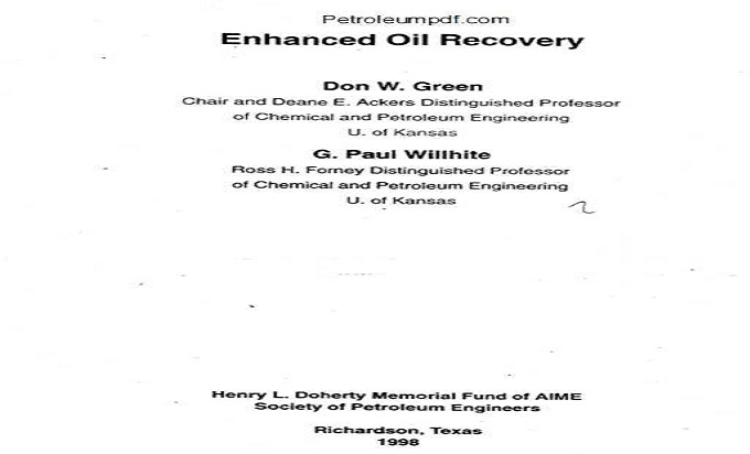 Enhanced Oil Recovery PDF Free Download
