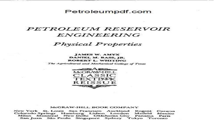 Petroleum Reservoir Engineering Physical Properties PDF Free Download.