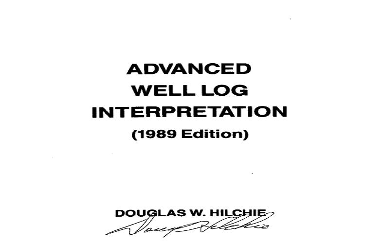 Advanced Well Log Interpretation pdf
