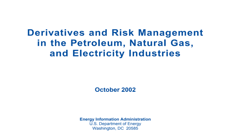 Derivatives and Risk Management in the Petroleum Pdf