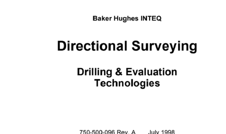 Directional Surveying Drilling & Evaluation Technologies Pdf